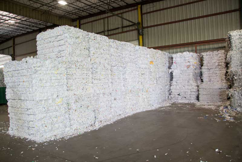 Shredded Paper for Commercial and Business Recycling
