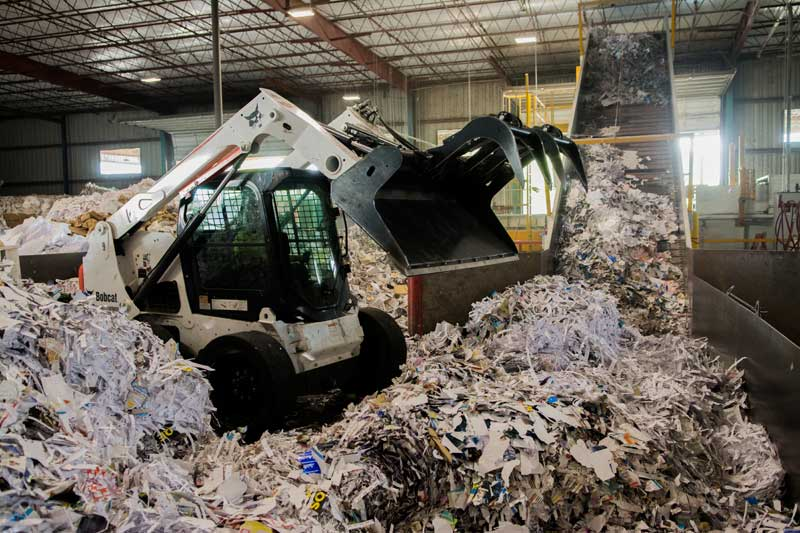 Waste audit recycling